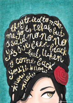 """Draw Me a Song Project"" by Nour Tohmé: Rehab, by Amy Winehouse. @Lydia Squire Feinberg"