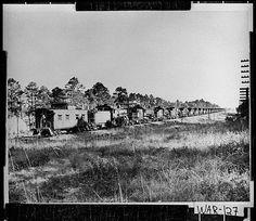 Ware County Photograph of Atlantic Coastline engines going to scrap yards, Waycross, Georgia, ca. 1950