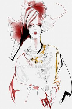 This set of illustrations were created using Wacom Cintiq tablet, Adobe Photoshop and by Escape Motions. I have over 20 ye. Fashion Sketchbook, Fashion Sketches, Fashion Illustrations, Illustration Fashion, Beauty Editorial, Editorial Fashion, Watercolor Fashion, Watercolor Art, Chicago Fashion