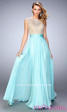 La Femme Prom Dress with Illusion Back  Style: LF-21486