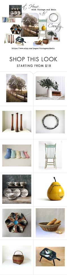 """at Home in the Country"" by untried-shop ❤ liked on Polyvore featuring interior, interiors, interior design, home, home decor, interior decorating, vintage and country"