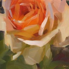 """Rose Glow"" - Original Fine Art for Sale - © Carol Marine"
