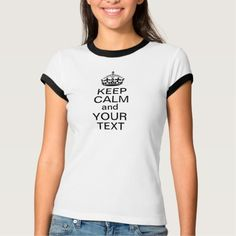 Keep Calm and Your Text Custom T Shirt T-Shirt, Hoodie