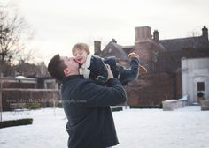 family photography pittsburgh   mellon park   mary beth miller photography winter snow photo session father son kisses valentines