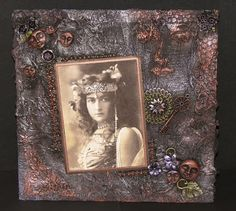 AlteredPages Artsociates: Mysterious Blackened Canvas & Stencils