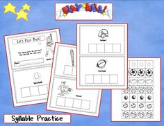 syllable practice from kindergartencrayons.blogspot.com