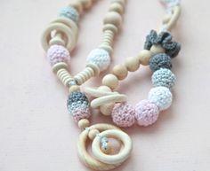 Set of 2 - Nursing rings necklace and teether van NiHaMa - Nice Hand Made op DaWanda.com