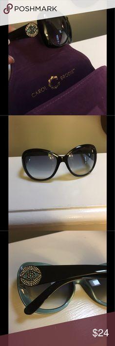 Carol Brodie. Evil Eye sunglasses. Never worn. Stunning Blue n White Evil Eye sunglasses from Carol Brodie... The best at spiritual protection accessories. Never worn with case. Carol Brodie Accessories Sunglasses