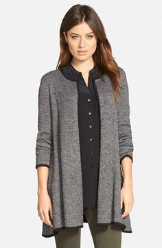Eileen Fisher Round Neck A-Line Sweater Jacket (Regular & Petite) available at #Nordstrom