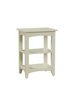 Shaker Cottage 2 Shelf End Table Alaterre Collection Sand X