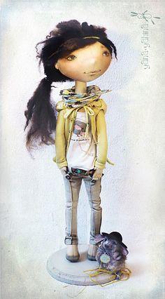 Modern rag doll/ muñeca de trapo moderna