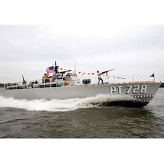 Genuine PT Boat - restored from WWII. One of 12 remaining PT boats in the world. has all the original weaponry (deactivated) and is licensed by the Coast Guard for carrying passengers. you might want to get everyone to pitch in the get this for dad; it costs $1,000,000. WOW!!!!!!
