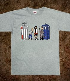 Bill and Ted > cool Dr. Who t-shirt
