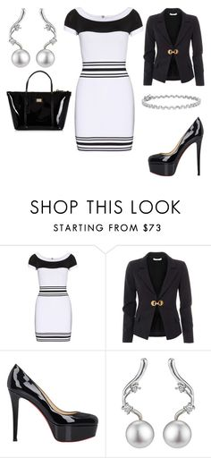 """""""Untitled #22557"""" by edasn12 ❤ liked on Polyvore featuring Balmain, Versace, Christian Louboutin, A B Davis, Blue Nile and Dolce&Gabbana"""