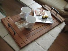 Oneofakind Reclaimed Wood Tray with Rustic by MyLivingDesigns, $32.00