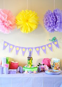 DIY Repunzel themed party. Links to other cool stuff such as cake, fondant, costume, etc.