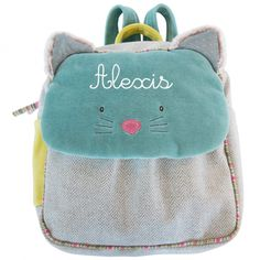 Show details for Moulin Roty Les Pachats Chacha Cat Backpack Baby Robin, Cat Backpack, Teen Girl Fashion, Kids Fashion, Women's Fashion, French Fabric, Presents For Kids, Cute Handbags, Wishes For Baby