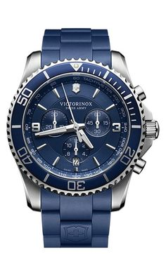 Victorinox+Swiss+Army®+'Maverick'+Chronograph+Rubber+Strap+Watch,+43mm+available+at+#Nordstrom
