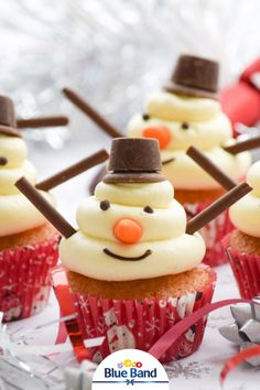 Christmas Food Treats, Christmas Cookies, Mango Mousse, Cupcake Images, High Tea, Tapas, Cake Recipes, Cupcakes, Sweets