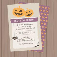 Convite Halloween p imprimir