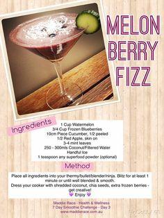 Melon berry fizz