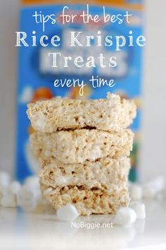 How to make the best Rice Krispie Treats every time - ½ stick of butter Tablespoons), ½ box of Rice Krispies cereal cups) and bag of mini marshmallows Rice Crispy Treats, Krispie Treats, Rice Krispies, Yummy Treats, Sweet Treats, Fudge, Profiteroles, Sweet Recipes, Snack Recipes