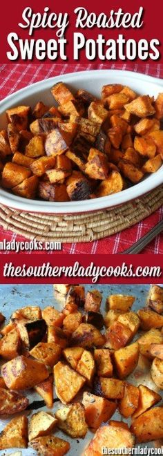 SPICY SWEET POTATOES - Healthy Recipe - The Southern Lady Cooks. This is a wonderful fall or atumn dish or make it anytime as a great healthy side dish for any meal.
