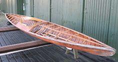 Kaparen Design Olle Hagström Södertälje Wooden hull kayak with skin-on-frame deck