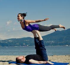 Couple Yoga on the Beach