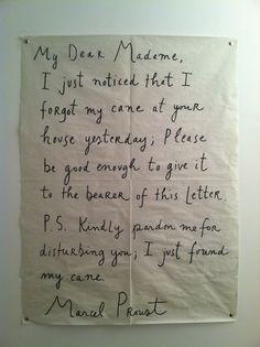 My Dear Madame.... Words-Proust, writing-Maira Kalman http://www.hadassahmagazine.org/site/apps/nlnet/content.aspx?c=twI6LmN7IzF&b=5698175&ct=8432309