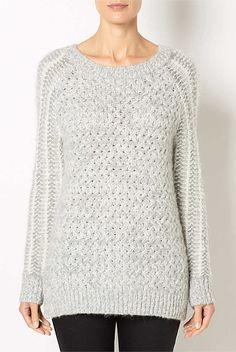 Tops - Textured Mohair Knit