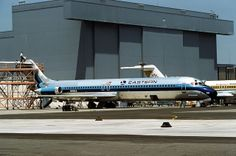 Eastern Air Lines Douglas DC-9-51 N991EA on the production line at Long Beach-Daugherty Field, July 1977. (Photo via Flickr: Ron Monroe)