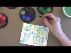 Jennifer McGuire shows how to use the iron off embossing technique with a background stamp to achieve a hand-lettered watercolor look. For more information, ...
