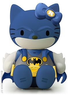 a hello kitty batman.  what a glorious thing.