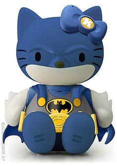 a hello kitty batman.  what a glorious thing.