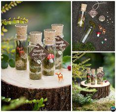 Apothecary Bottle Woodland Terrarium-DIY Mini Fairy Terrarium Garden Ideas