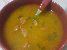 Receita de Sopa de mandioca com linguiça - Tudo Gostoso