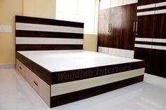Box Bed Design, Bed Back Design, Room Design Bedroom, Bedroom Furniture Design, Bed Furniture, Wooden Bed With Storage, Bed Designs With Storage, Bed Frame With Drawers, Wardrobe Interior Design