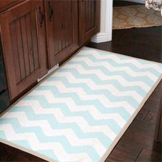 HELLO! :) transform your rug from boring, to  SPRING-TACULAR by painting chevron stripes