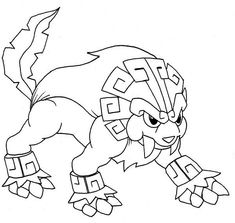 Legendary Pokemon, : Lionatiuh Legendary Pokemon Coloring Page