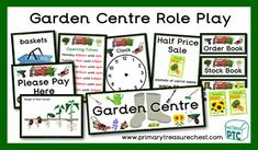 Lots of popular Garden Centre Role Play teaching resources to download for the Foundation Phase - Early Years -  KS1 - kindergarten - Pre-School Teaching Activities, Teaching Resources, Teaching Ideas, Role Play Shop, Role Play Areas, Order Book, Growing Gardens, Garden Centre, Time Clock