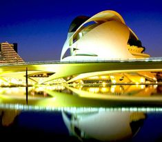 The Palacio de las Artes Reina Sofia – Valencia, Spain    This building consists of 104 Color Kinetics' ColorBlast 12 systems that display a series of dynamic color-changing effects, including color waves and other spectacular combinations.