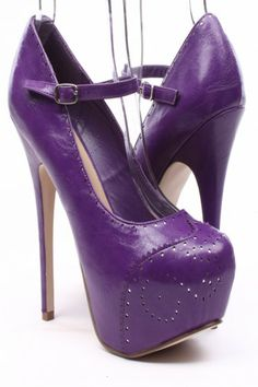 DARK PURPLE FAUX LEATHER OXFORD STYLE PLATFORM PUMPS Cute High Heels, Black High Heels, High Heels Stilettos, Peep Toe Heels, Stiletto Heels, Lace Up Heels, Suede Heels, Oxford Heels, Prom Heels