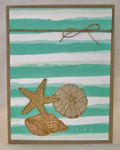 By the Seashore, Best Year Ever Paper, Stampin Up, Paper Art Garden