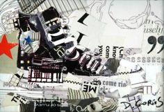 Chuck Taylor collage by Derek Gores