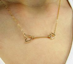 Arrow Necklace - 14k Gold Filled or Sterling Filled, Arrow Jewelry, Follow your Arrow, Bridesmaid Jewelry, Sideways Arrow, Arrow Charm