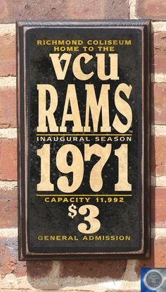 Virginia Commonwealth Rams Basketball Antiqued by CrestField