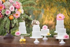 Elegant & Rustic Cake Table Décor at #ElChorro in Paradise Valley, AZ with #AmyandJordanPhotography and #ImoniEvents www.flowerstudioaz.com