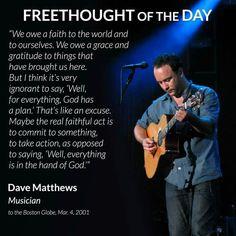 Dave on  GOD/Climate Change..