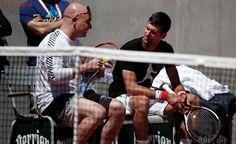 Djokovic y Agassi entrenan por primera vez